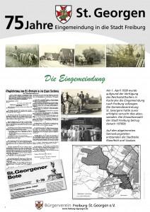 Dokumentation des Bürgervereins auf 5 Schautafeln