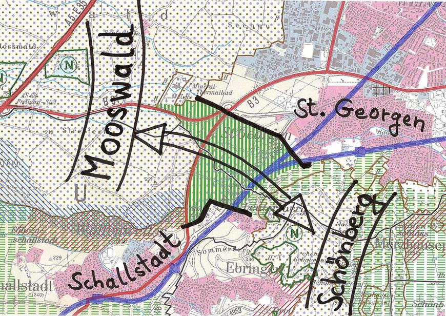 Grünzäsur zwischen St. Georgen und Schallstadt