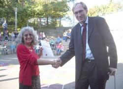 Esther Meyer und Baubürgermeister Prof. Dr. Martin Haag