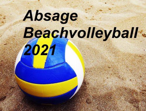 Absage des Beach-Volleyball-Turnier 2021